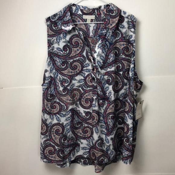 Dana Buchman Tops - Dana Buchman sleeveless Blouse sz 2X paisley New